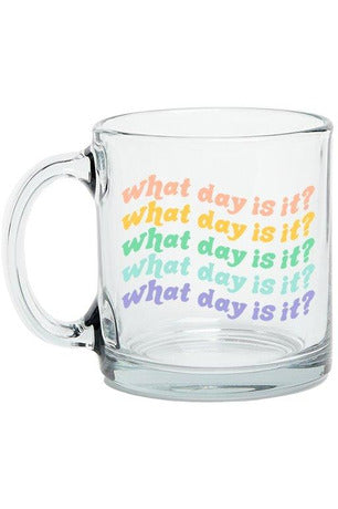 'What Day Is It?' Mug - late bird