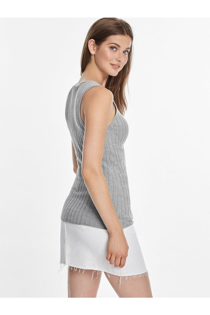 Wide Ribbed Knit Tank - late bird