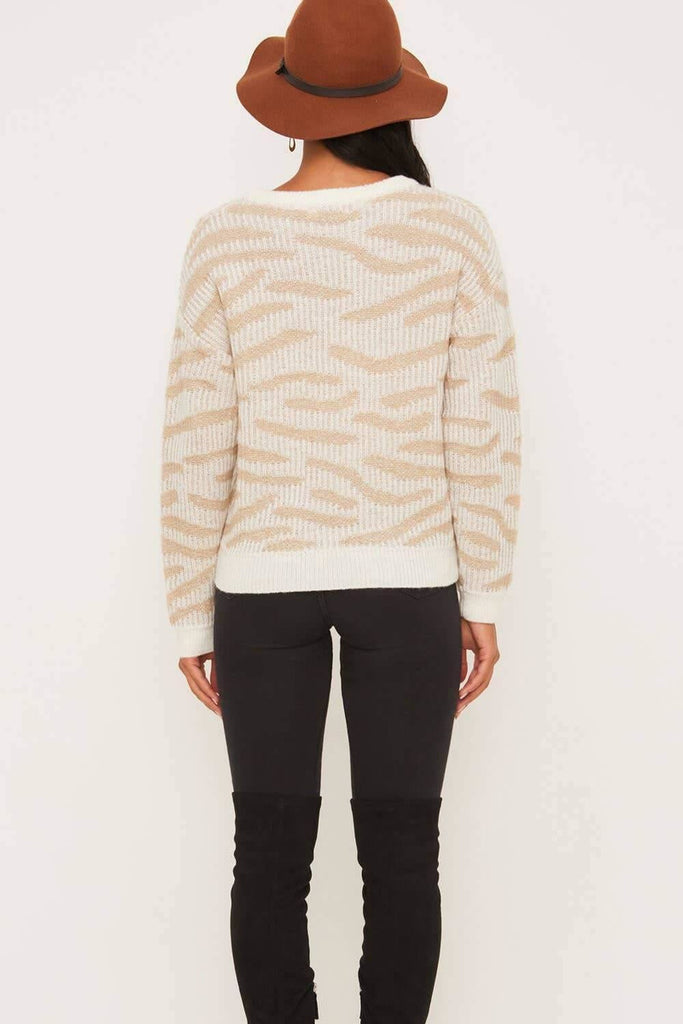 Winter White Safari Sweater - late bird