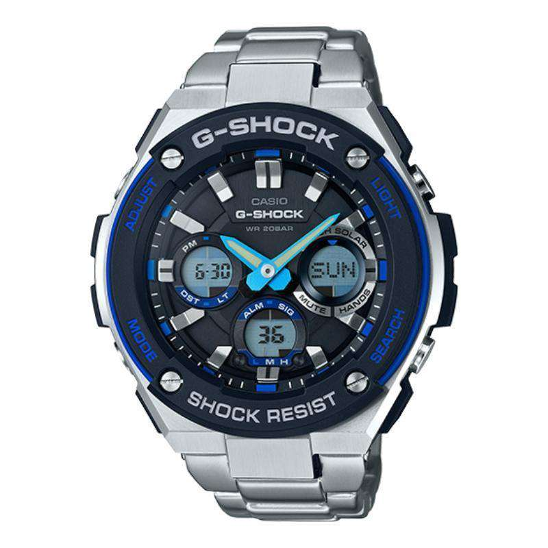 Casio G-Shock G-Steel Black Dial SS Chronograph Quartz Male Watch GSTS100D-1A2 - TEXET