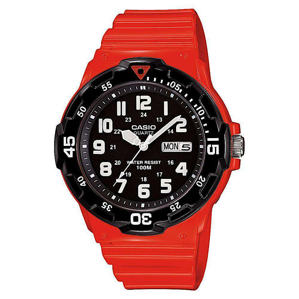 Casio MRW200HC-4BV Red Analog Sports Watch - TEXET