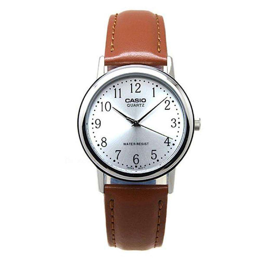 Casio MTP1095E-7B Analog Leather Watch - TEXET