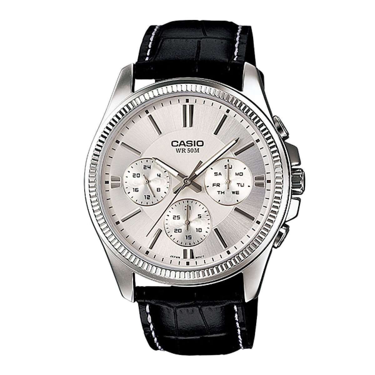 Casio MTP1375L-7AVDF Multifunction Leather Watch - TEXET