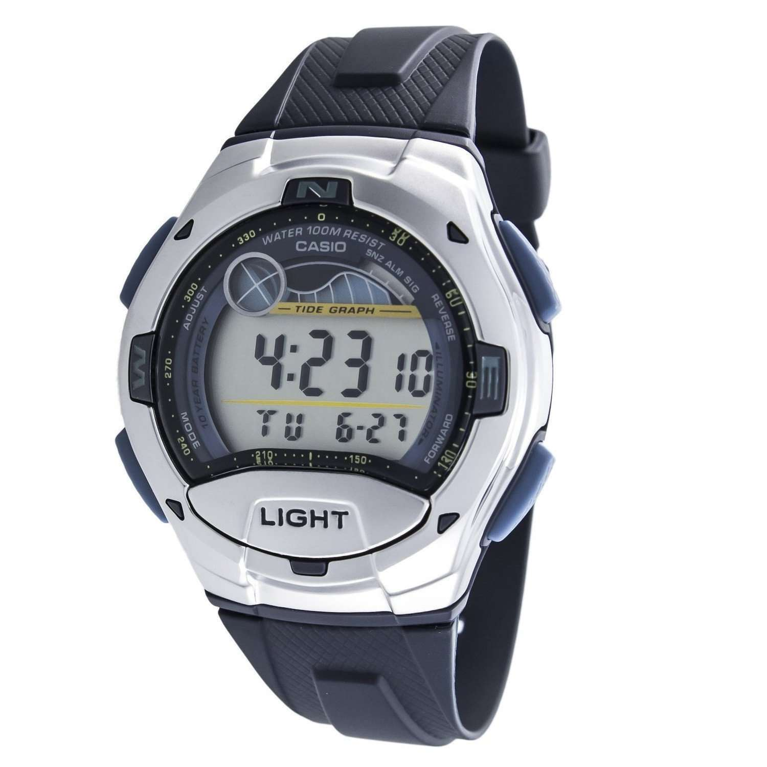 Casio W753-2AVES Digital Chronograph Watch - TEXET