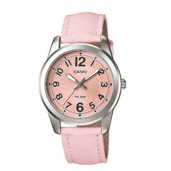 Casio Women's LTP1315L-5BV Pink Leather Quartz Watch with Pink Dial - TEXET