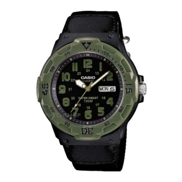 Casio Men's Quartz Watch with Black Dial Analogue Display and Black Strap MRW-200HB-1BVEF - TEXET