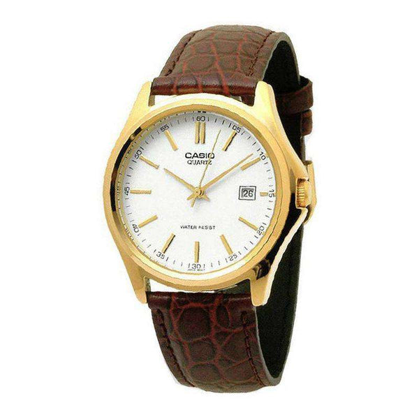 Casio Quartz Analog White Dial Gold Tone MTP-1183Q-7ADF Men's Watch - TEXET