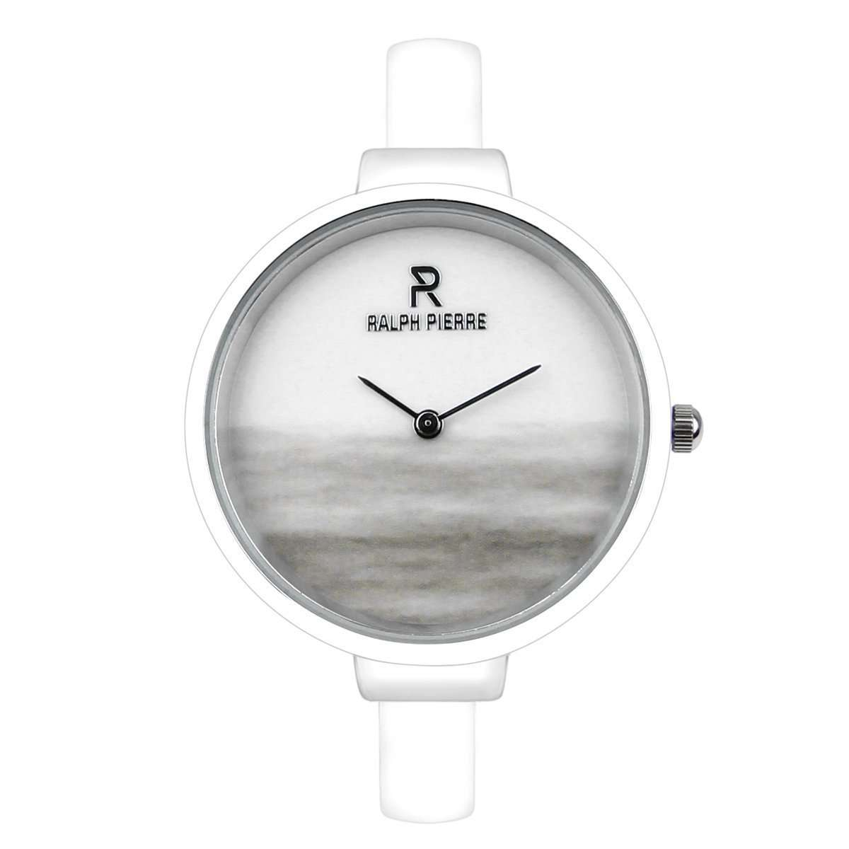 Ralph Pierre Sublime Breeze Analog Watch With White Dial & Strap