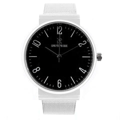 Ralph Pierre Sublime Suave Analog Watch in Black Dial & Stainless Steel Strap