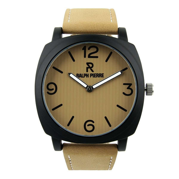 Ralph Pierre Actif Hustler Analog Watch With Brown Dial & Strap