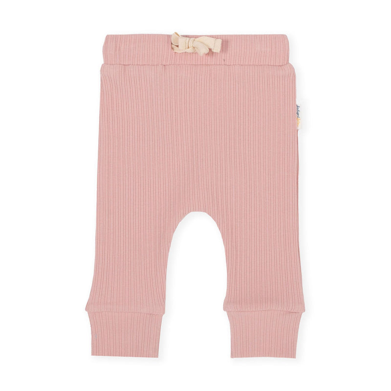 Ribbed Dusty Pink Drop Track Pants