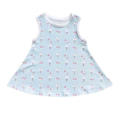 Ice Cream Swing Dress - Indigo & Lellow Store