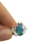 Load image into Gallery viewer, Blue Boulder Opal Ring