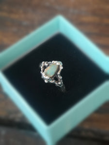Small Opal Droplet Ring