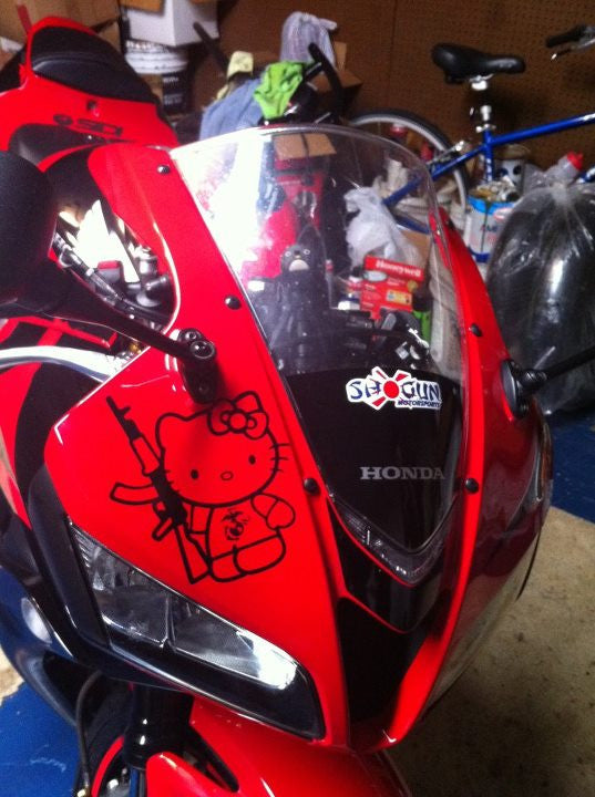 Hello Kitty & AK47 Decal