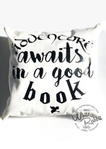 Load image into Gallery viewer, Adventure Awaits in a Good Book Pillow Case