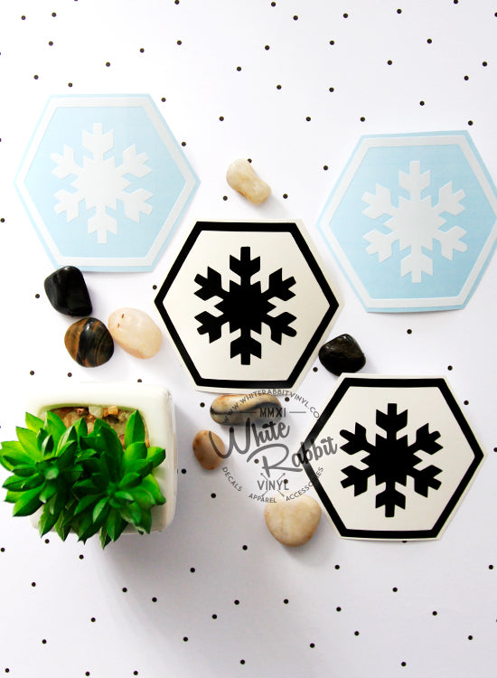 Adventure Hex Snowflake Decal