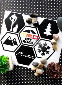 Adventure Hex Mountain Decal