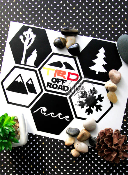 Adventure Hex Snow Goggles Decal
