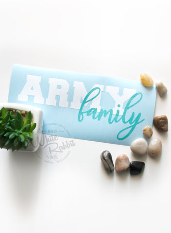 Military Family Decal - Branch Can Be Customized