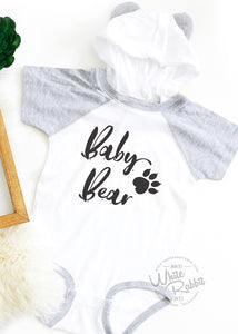 Baby Bear Infant Bodysuit With Hoodie and Ears