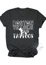 Load image into Gallery viewer, Boston Terriers and Tattoos Unisex T-Shirt