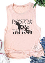 Load image into Gallery viewer, Boxers and Tattoos Women's Muscle Tank Top