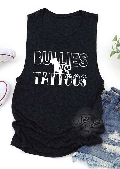 Bullies and Tattoos Women's Muscle Tank Top