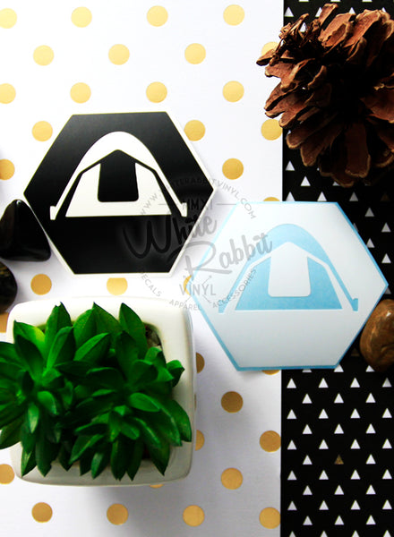 Camping Hex Tent Decal