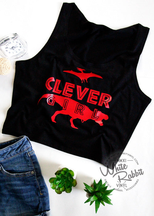 Clever Girl Women's Crop Tank Top