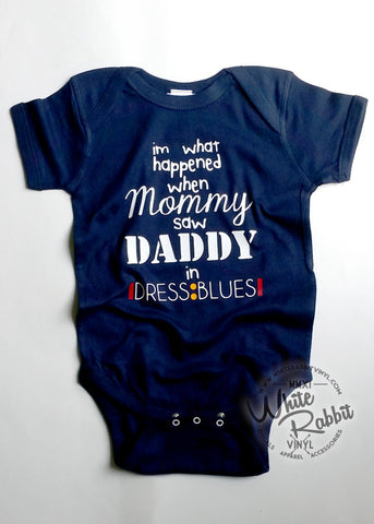 Daddy In Dress Blues Infant Short Sleeve Bodysuit