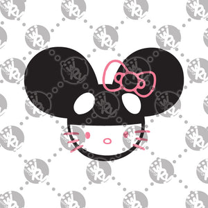 DeadMau5 Hello Kitty Head Decal