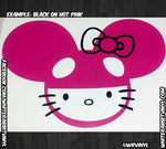 Load image into Gallery viewer, DeadMau5 Hello Kitty Head Decal