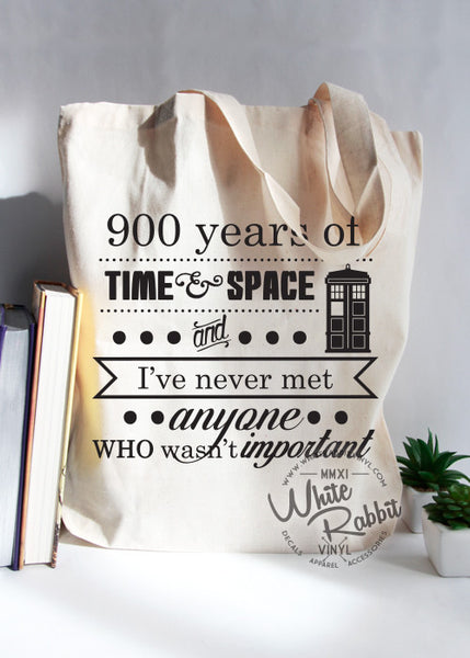 Doctor Who Time And Space Tote Bag