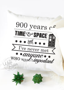 Doctor Who 900 Years of Time and Space Pillow Case