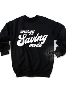 Energy Saving Mode Unisex Crewneck Sweater