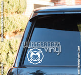 Firefighter Logo Hearts Decal