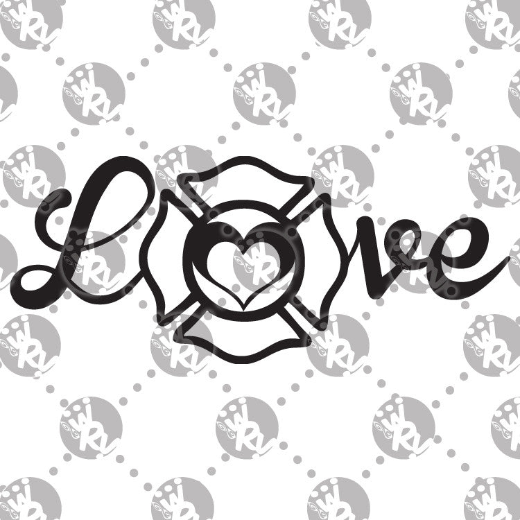 Firefighter Love Decal