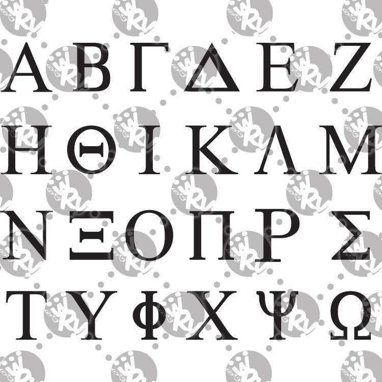 Sorority and fraternity greek letters decal white rabbit vinyl