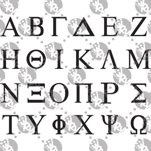Sorority and Fraternity Greek Letters Decal