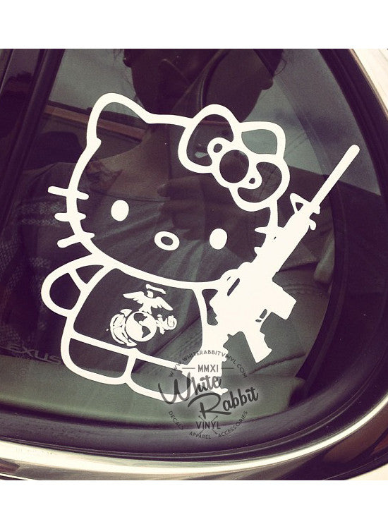 Hello Kitty & M4 Decal