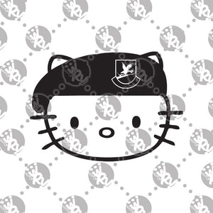 Hello Kitty USAF Security Forces Decal