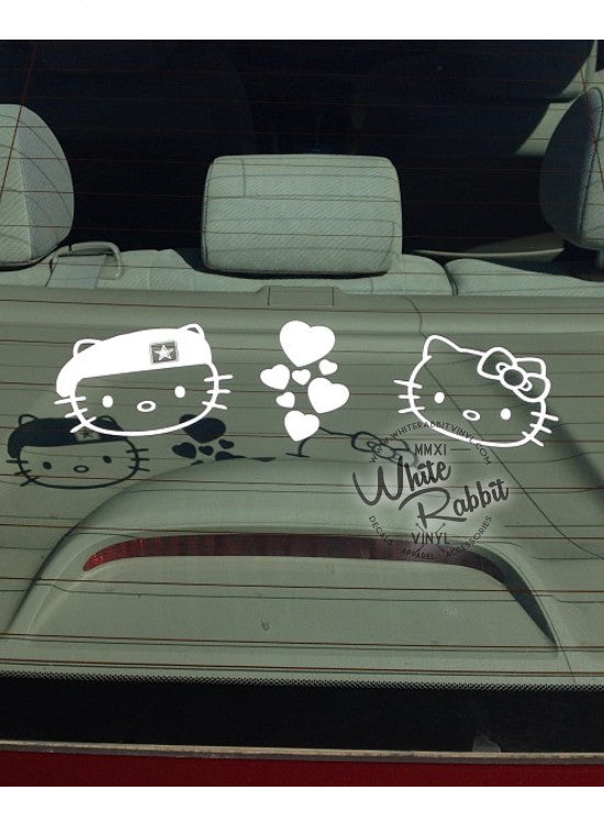 Hello Kitty Army Soldier Beret Decal