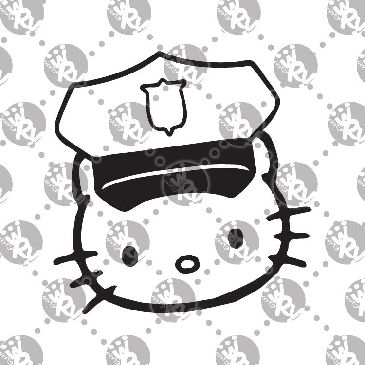 Hello Kitty Police Officer Decal
