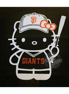 Hello Kitty SF Giants Decal