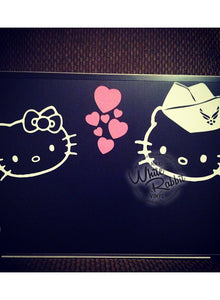 USAF Hello Kitty Airforce Airman Decal