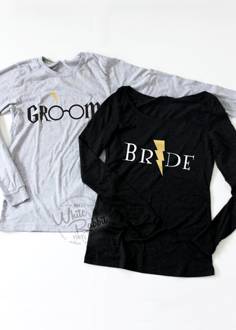 HP Bride Groom Long Sleeve Couple Set