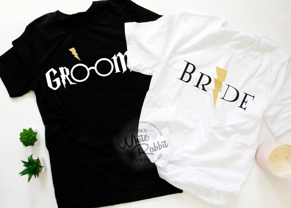 HP Bride and Groom T-Shirt set