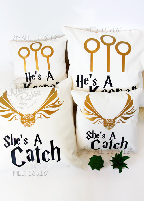 Catch and Keeper Pillow Case Set