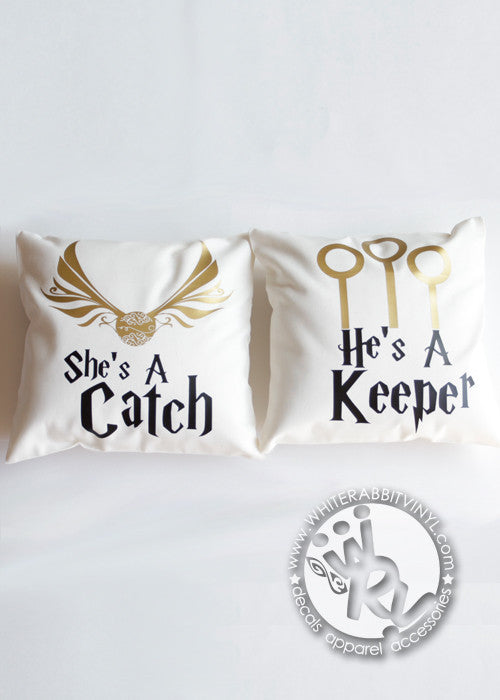 Harry Potter Catch and Keeper Pillow Case Set